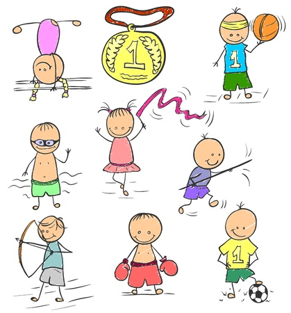 competitive sport: Olympics doodle Illustration