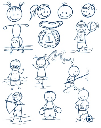 children only: sports competitions doodle