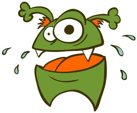 Cute little funny monster. Stock Vector - 17933554