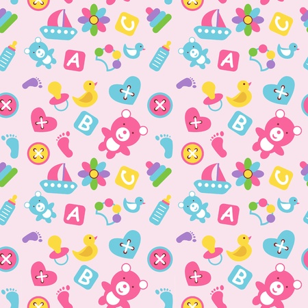 Seamless wallpaper with the image of children's toys.
