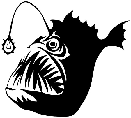 cartoon demon: Angler fish