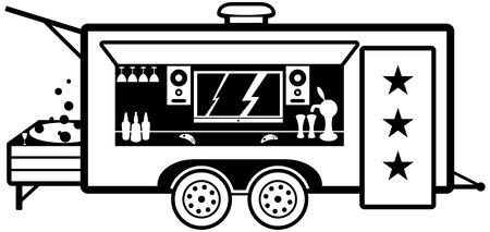 mobilhome: Blason de la maison mobile. Illustration