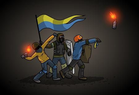 Ukrainian Revolution Illustration