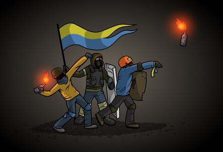 riot: Ukrainian Revolution Illustration