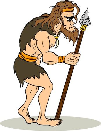 hombre prehistorico: El hombre antiguo Vectores