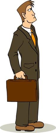 speculating: Businessman Illustration