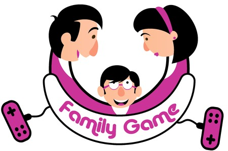 playing video game: Family Game Console