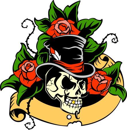 Gentleman s skull Vector