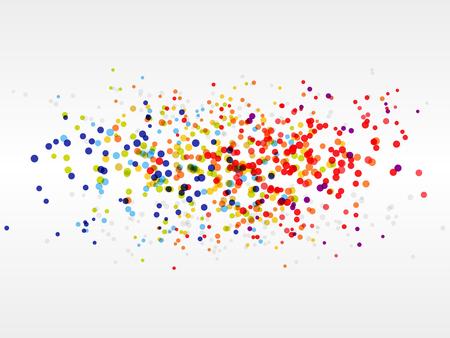 digital printing: Retro rainbow circle pattern background. Rainbow Button Background.