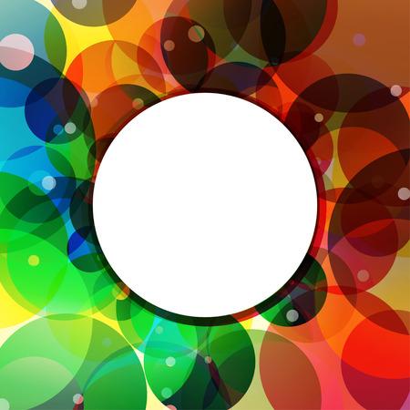rainbow circle: Rainbow circles background feeling of the jungle. Rainbow Circle Border Brush Effect.