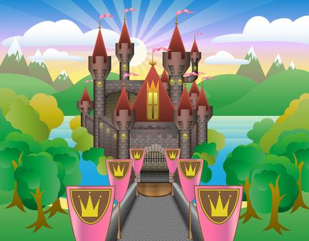 Fairytale Prachtig kasteel Stockfoto