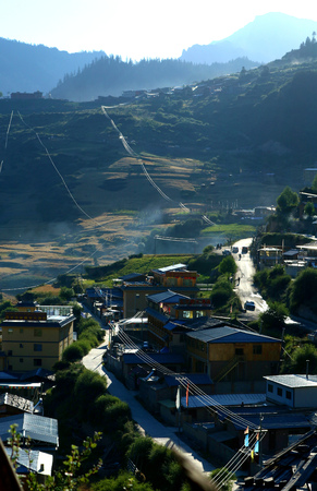 The small mountain village of Gannan Zhabei