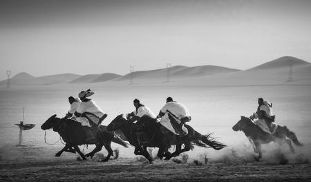 xi lin guo le prairie with horse rider