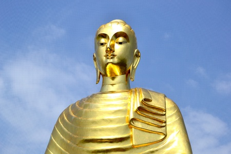 big gold budha. Stock Photo