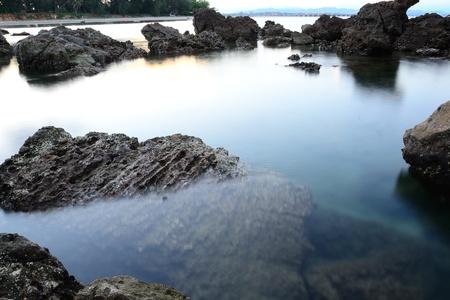 stone in the sea photo