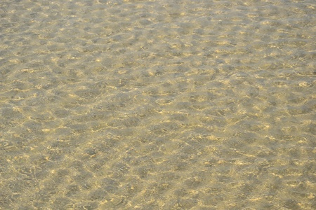 water on the sand Stock Photo