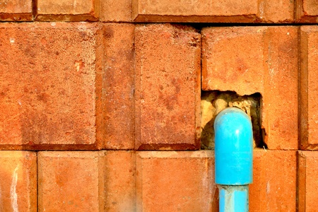 wall and pipe
