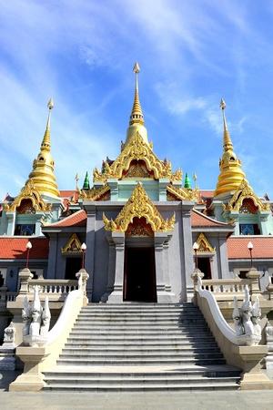 thailand tample in ban-grood bangsaphan photo