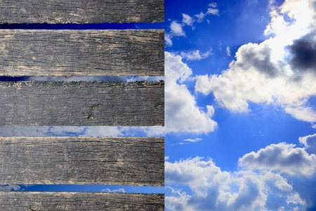 wood and sky background