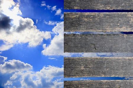 clound: sky clound and wood