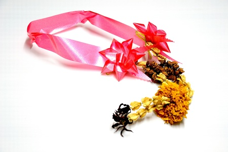 old thai Garland Stock Photo