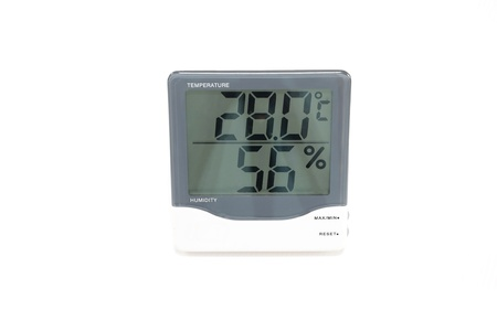 digital temperature meter Stock Photo