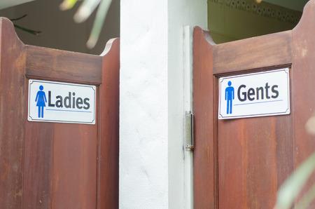 ledies   men toilet Stock Photo