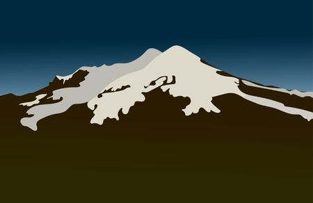 Mountains. Flat, vector illustration.