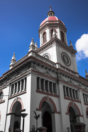 spiritual architecture: Santa Cruz Catholic Church, Bangkok Thailand. Stock Photo