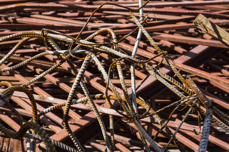 remnant: steel rod with many rust