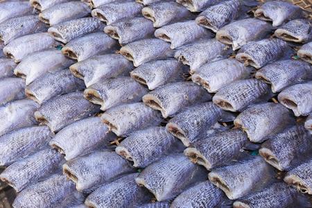 pla: Snake Skin Gourami Fish,Pla Salit (Trichogaster pectoralis) desiccated.