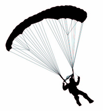 swooping: A swooping parachutist Illustration