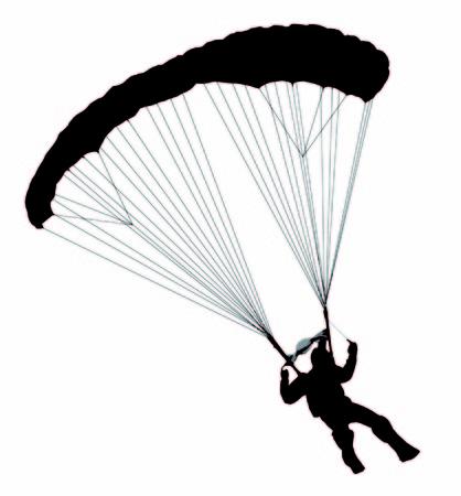 A swooping parachutist 向量圖像