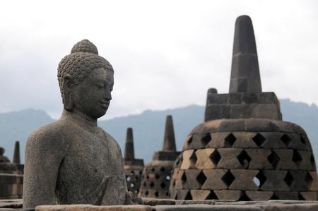 yogyakarta: borobudur temple in yogyakarta, indonesia