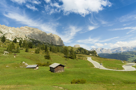 sud tirol: a cabin at mountain landscape Editorial