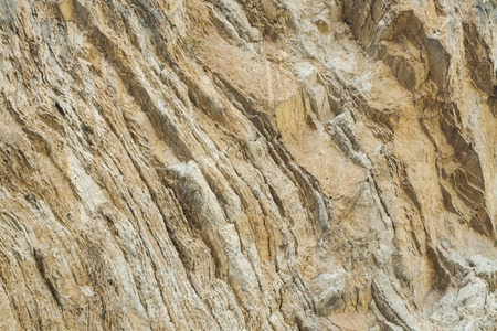 stratification: view a detail of geological stratification of a mountain Stock Photo