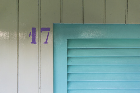 limbo: Close-up of a detail of the cabin number 17 Stock Photo