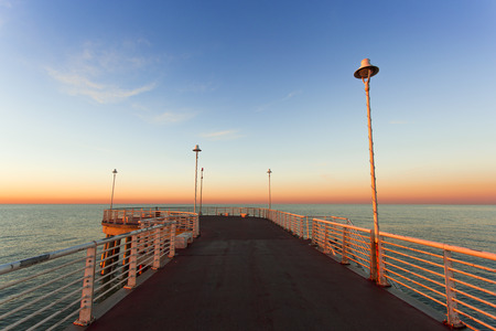 massa: Special vision from the jetty of Marina di Massa to dawn of the new year