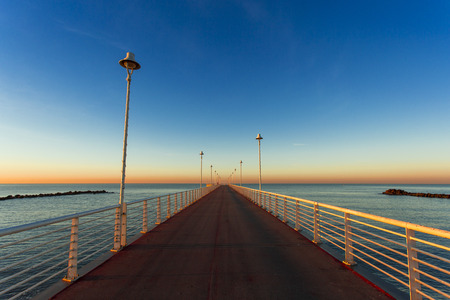 massa: the jetty of Marina di Massa to dawn of the new year