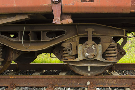 streight: Frontal view of the wheels of the streight train