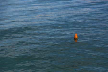 safety buoy: View from high of a safety buoy marine