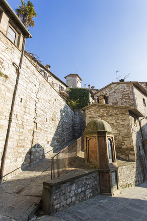 glimpse: Glimpse view of a Umbrian medieval town