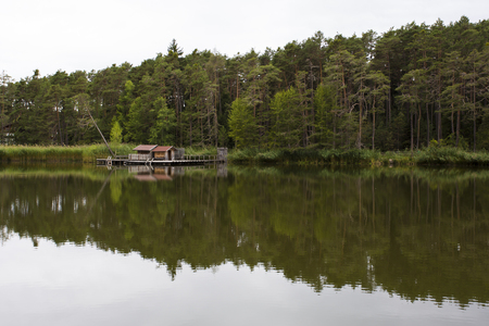 sud tirol: View of reflections on the Fie lake