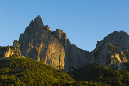 panoramic view of the Seiser Alm on the sunset