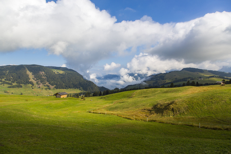 Panoramic view of a portion of promontory on Seiser Alm