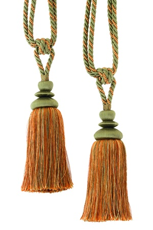 Two Tassels for curtain, isolated on white background