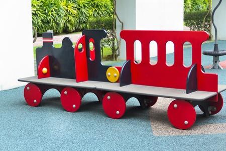 Kids train on playground