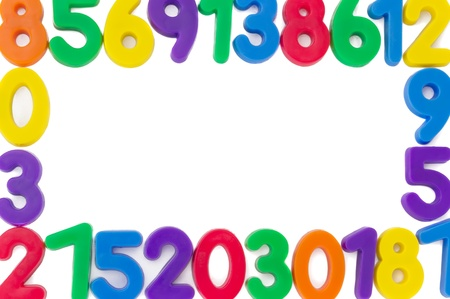 Assorted Numbers, isolated on white background.  photo