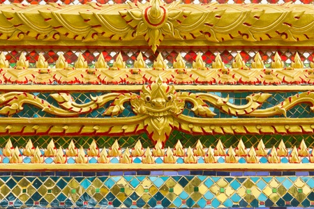 Traditional Thai style art painting on temple for background