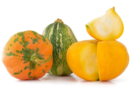 Pumpkins isolated on white photo